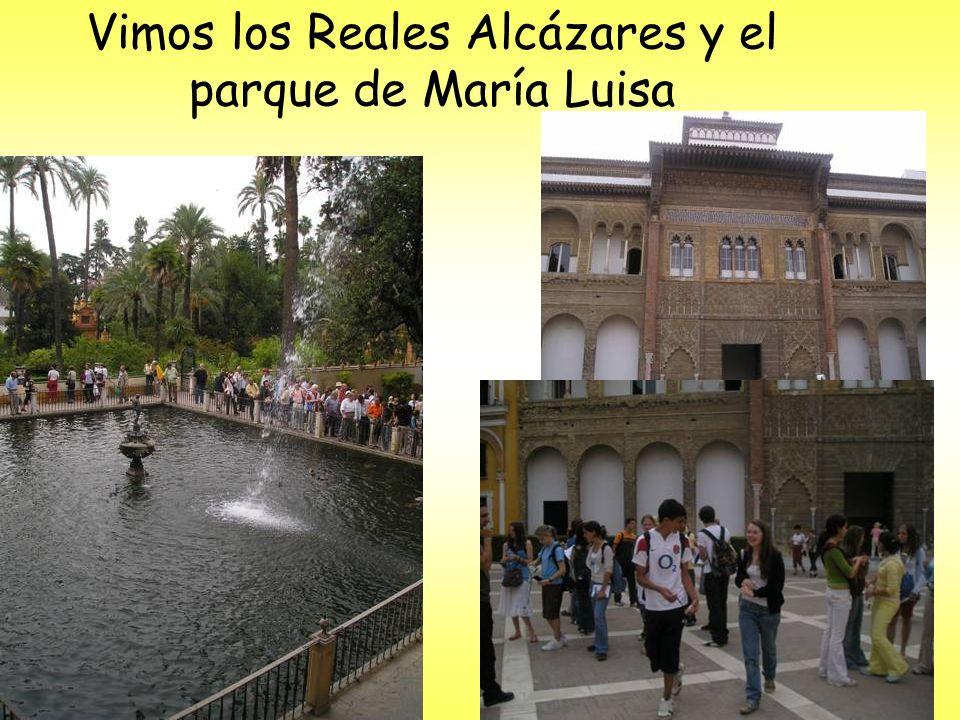 Vimos los Reales Alcázares y el parque de María Luisa