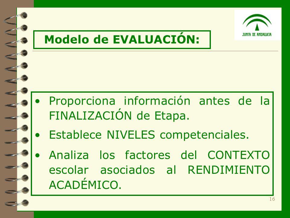16 Proporciona información antes de la FINALIZACIÓN de Etapa.