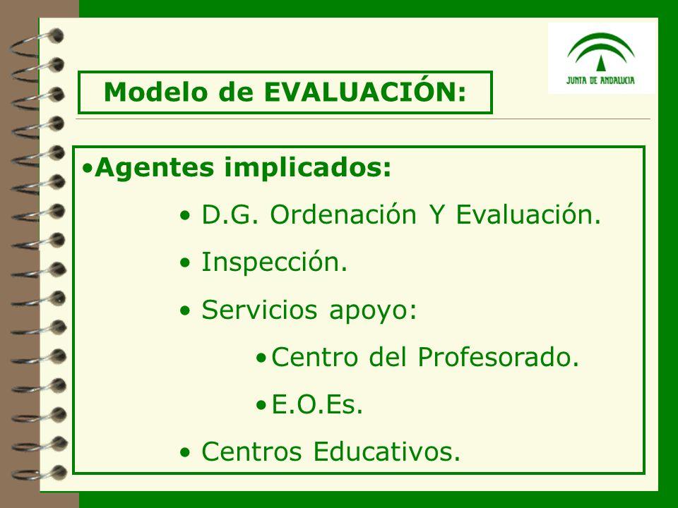 18 Agentes implicados: D.G. Ordenación Y Evaluación.