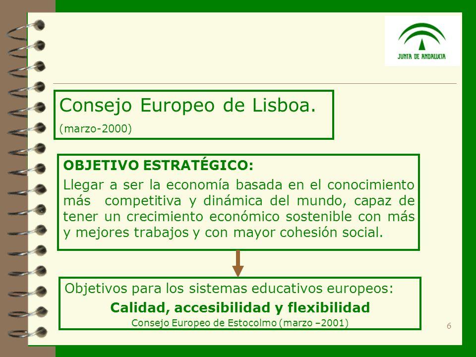 6 Consejo Europeo de Lisboa.