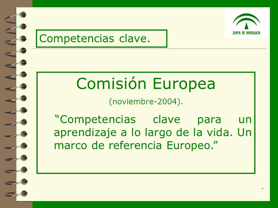 7 Comisión Europea (noviembre-2004). Competencias clave para un aprendizaje a lo largo de la vida.