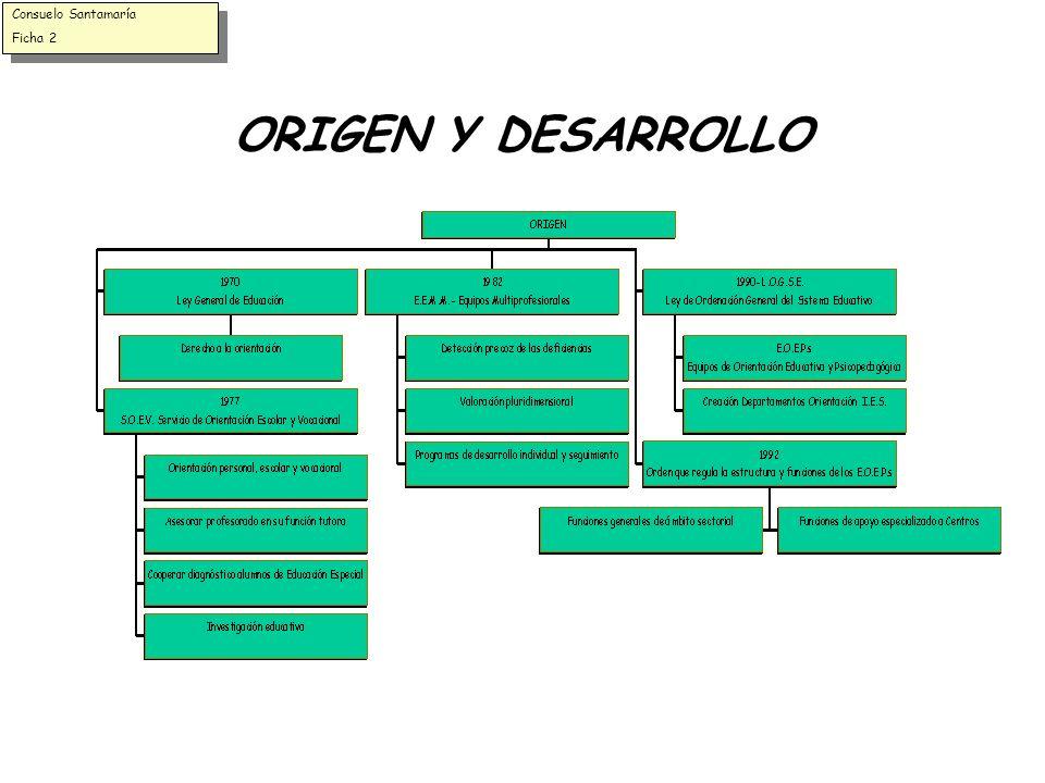 ORIGEN Y DESARROLLO Consuelo Santamaría Ficha 2 Consuelo Santamaría Ficha 2