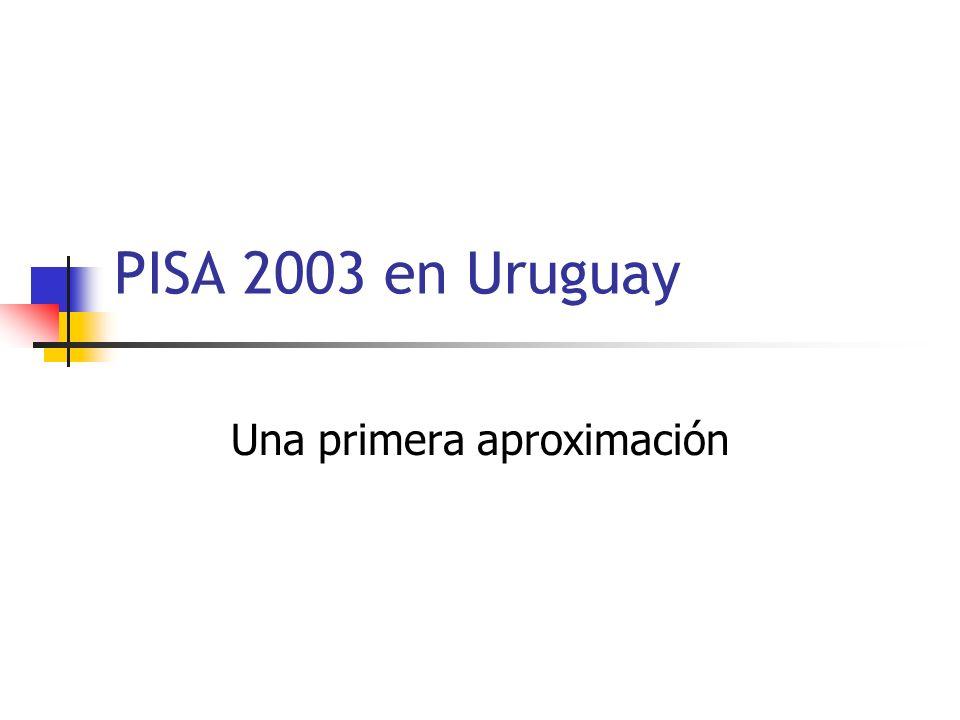 PISA 2003 en Uruguay Una primera aproximación