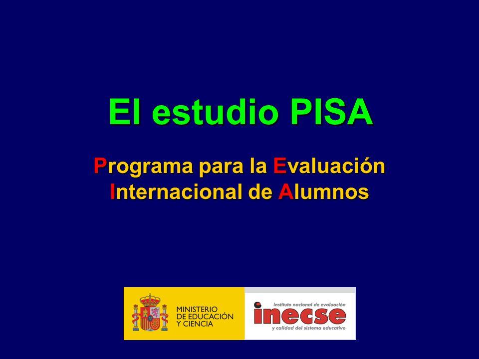 El estudio PISA Programa para la Evaluación Internacional de Alumnos