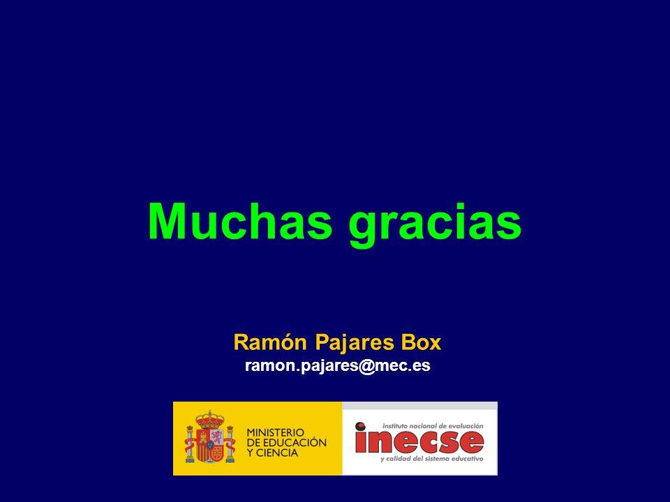 Muchas gracias Ramón Pajares Box ramon.pajares@mec.es