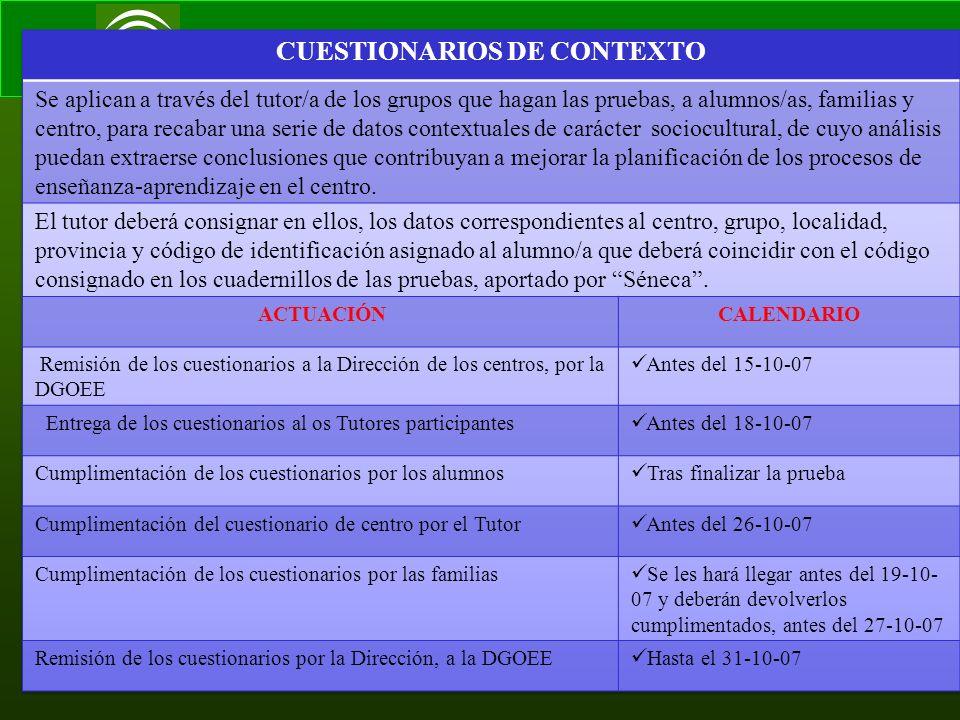 Consejería de Educación Servicio de Inspección 8