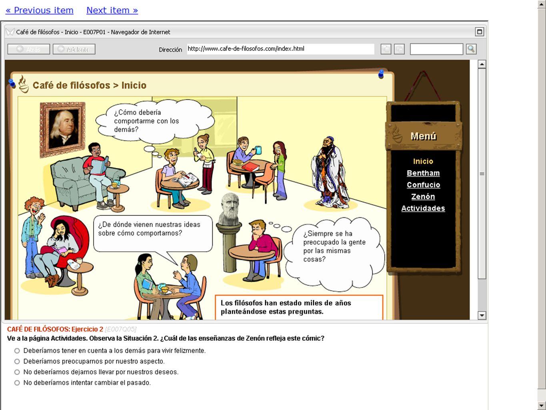 7 EJEMPLO DE ÍTEM AGENCIA ANDALUZA DE EVALUACIÓN EDUCATIVA PISA 2012 Sevilla. Febrero 2012