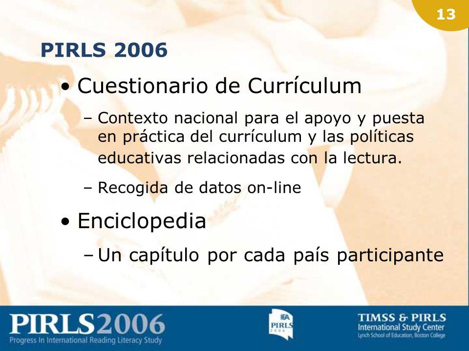12 Cuestionarios de contexto 4 Cuestionarios –Familias –Alumnado –Profesorado –Centros