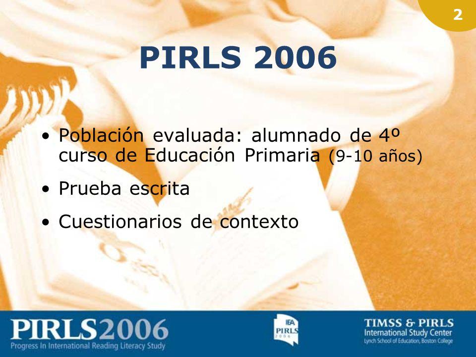 1 PIRLS 2006 Evaluación del rendimiento en comprensión lectora IEA (Asociación Internacional para la Evaluación del Rendimiento Educativo) –Tendencias
