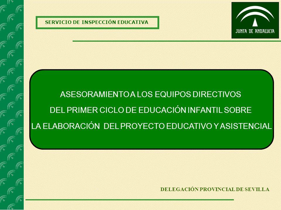 SERVICIO DE INSPECCIÓN EDUCATIVA DELEGACIÓN PROVINCIAL DE SEVILLA ASESORAMIENTO A LOS EQUIPOS DIRECTIVOS DEL PRIMER CICLO DE EDUCACIÓN INFANTIL SOBRE