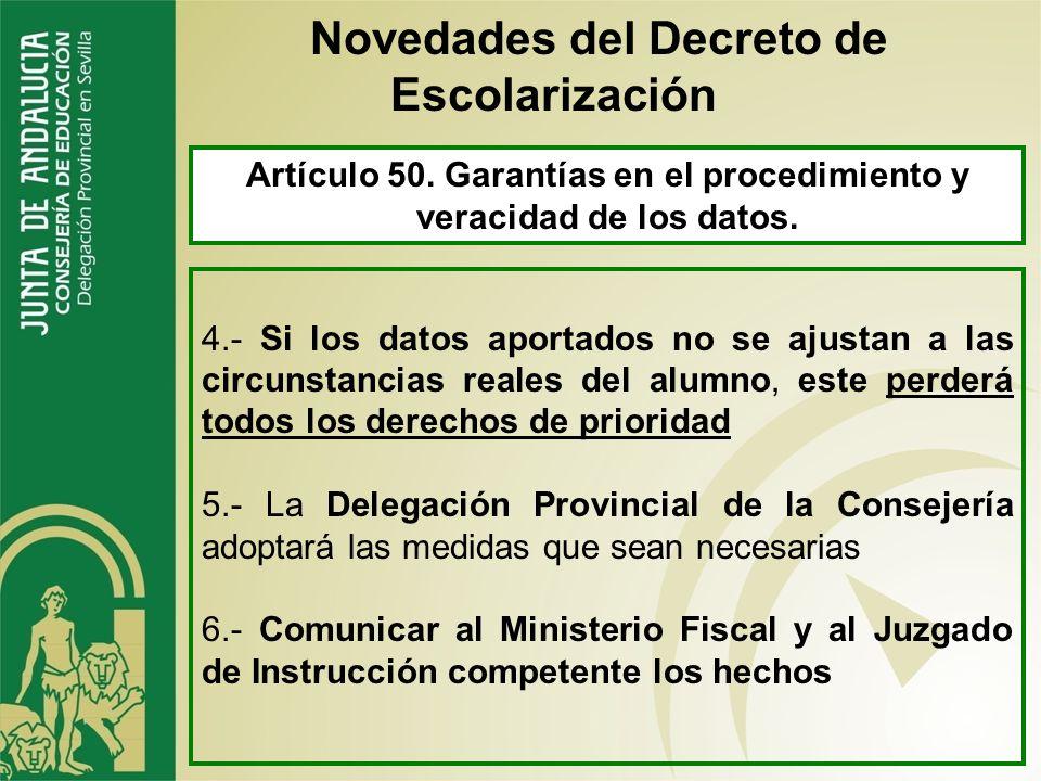 Artículo 48. Subsanación de las solicitudes y requerimiento de documentación. 1.- Plazo de diez días hábiles Novedades del Decreto de Escolarización