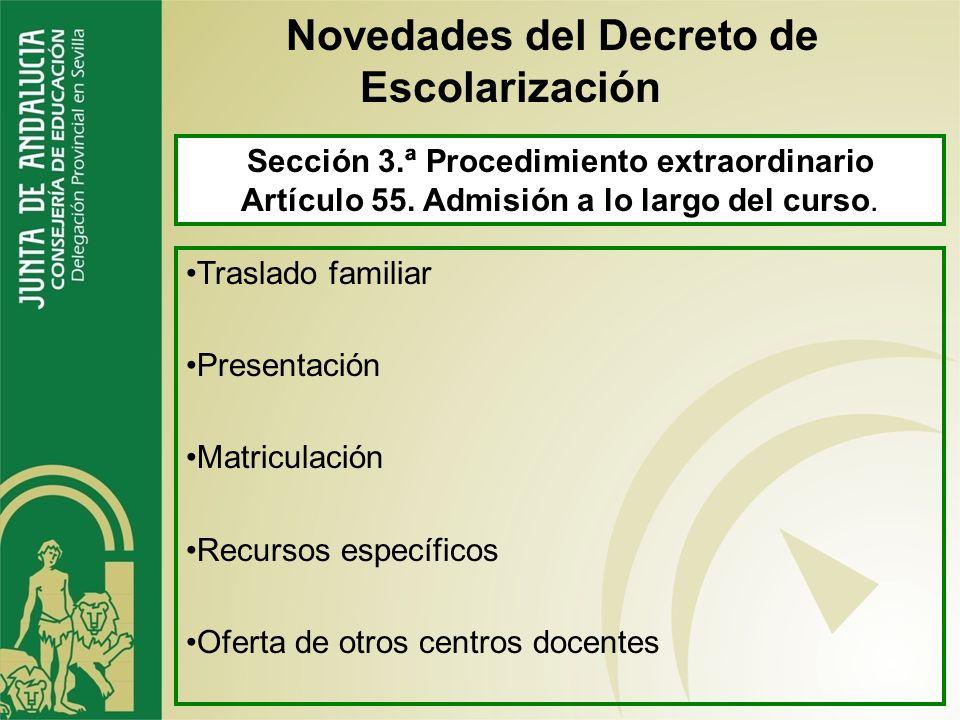 Artículo 54. Plazas vacantes tras la certificación de matrícula (Artículo 17 de la orden). 1.- Siguiendo el orden de admisión establecido si hay lista