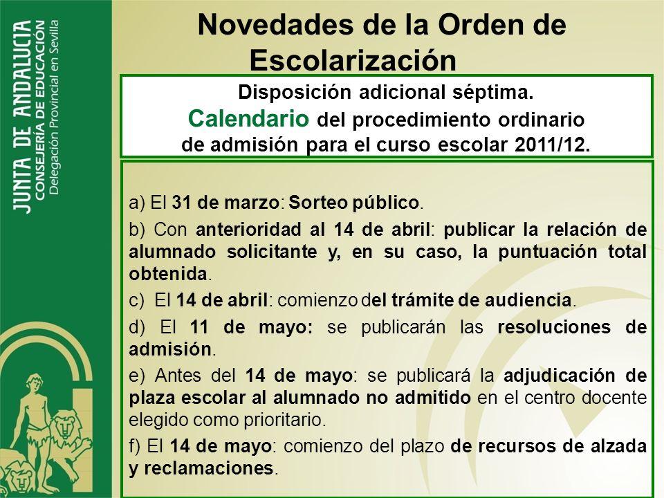 Disposición adicional cuarta Admisión del alumnado con derecho a la prestación gratuita del servicio complementario de transporte escolar Novedades de