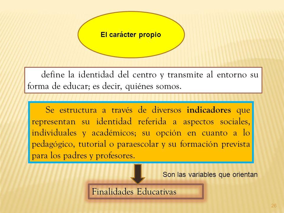 26 Se estructura a través de diversos indicadores que representan su identidad referida a aspectos sociales, individuales y académicos; su opción en c