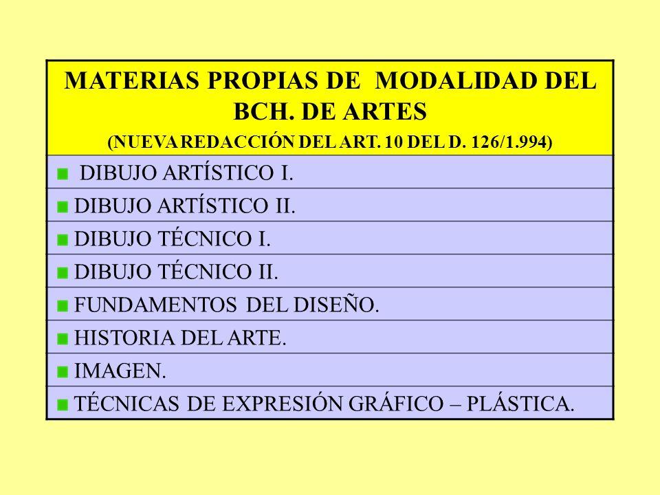 MATERIAS COMUNES (NUEVA REDACCIÓN DEL ARTÍCULO 9 DEL D. 126/1.994) PRIMER CURSO LENGUA CASTELLANA Y LITERATURA I. PRIMERA LENGUA EXTRANJERA I. FILOSOF