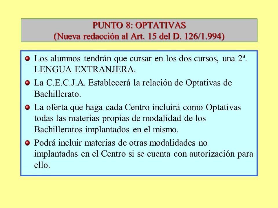 MATERIAS PROPIAS DE MODALIDAD DEL BCH. DE TECNOLOGÍA (NUEVA REDACCIÓN DEL ART. 13 DEL D. 126/1.994) DIBUJO TÉCNICO I. DIBUJO TÉCNICO II. ELECTROTECNIA