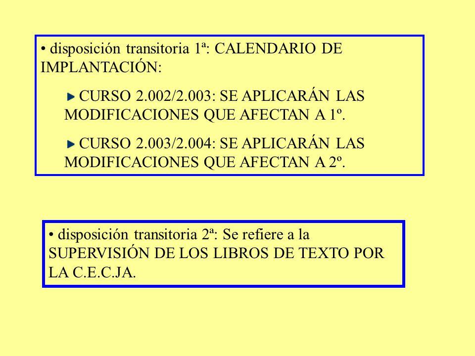 PUNTO 11 SUSTITUYE EL ANEXO II DEL D. 126/1.994:CURRÍCULO DEL BACHILLERATO. ESTABLECE LOS OBJETIVOS, CONTENIDOS Y CRITERIOS DE EVALUACIÓN DE CADA UNA