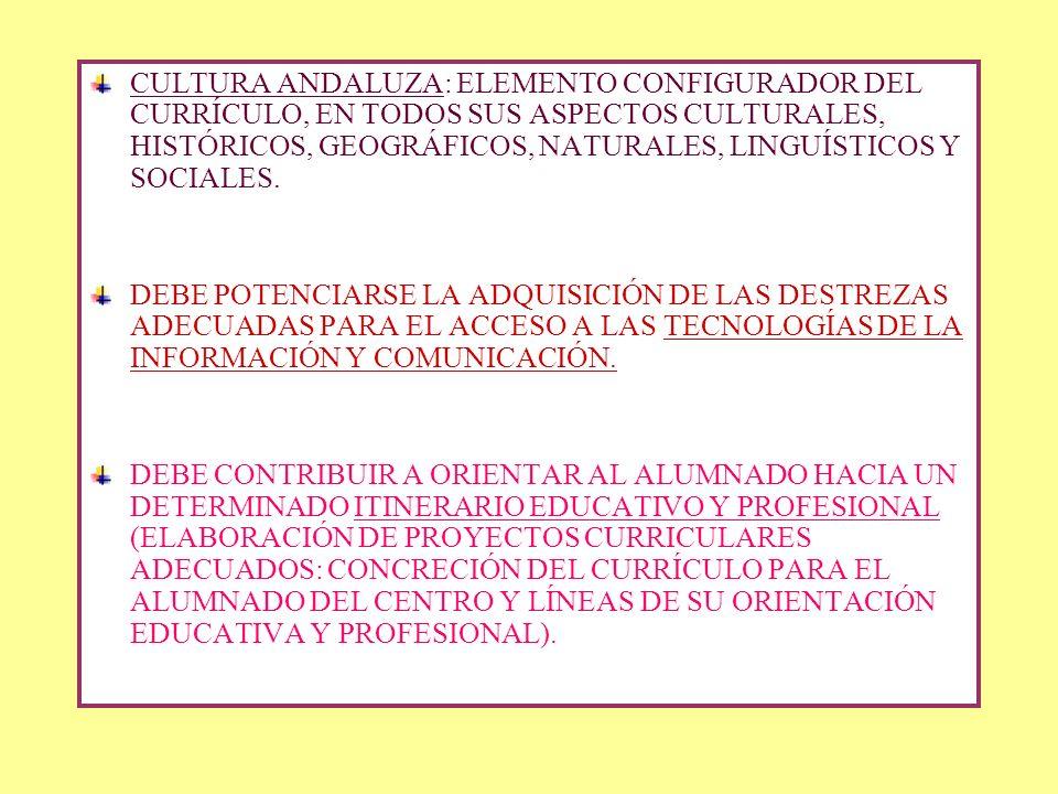 EL ANEXO DEL DECRETO Establece los objetivos, contenidos, criterios de evaluación y principios metodológicos para las materias comunes y propias de ca