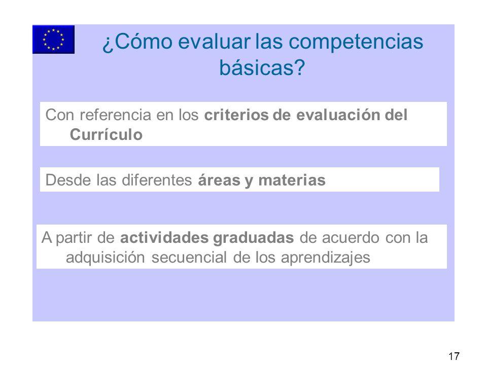 17 ¿Cómo evaluar las competencias básicas.