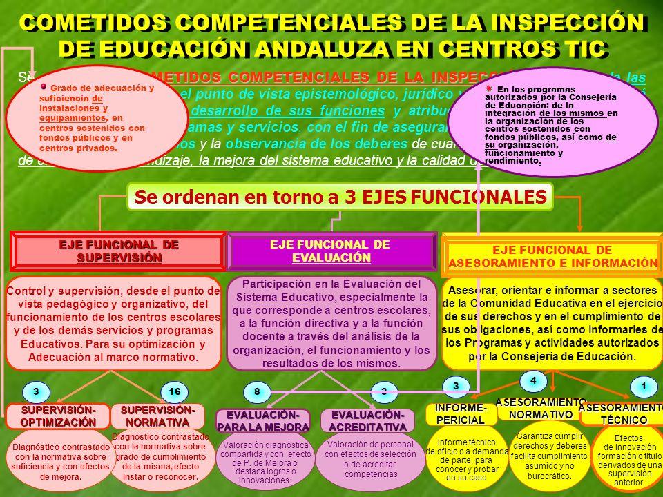 COMETIDOS COMPETENCIALES DE LA INSPECCIÓN Se entiende por COMETIDOS COMPETENCIALES DE LA INSPECCIÓN cada una de las actuaciones que, desde el punto de