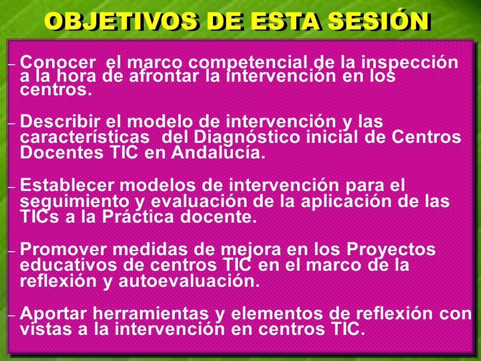 – Conocer el marco competencial de la inspección a la hora de afrontar la intervención en los centros. – Describir el modelo de intervención y las car