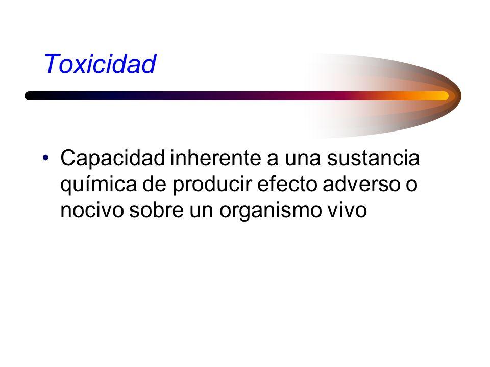Paracelso, 1493 - 1541 Toda sustancia es tóxica, no hay ninguna que no sea tóxica, es la dosis que hace la diferencia entre una sustancia tóxica y un