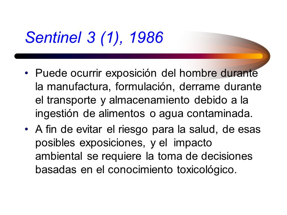 Exposición Es una medida del contacto entre el agente químico y el organismo; es función de la concentración y del tiempo