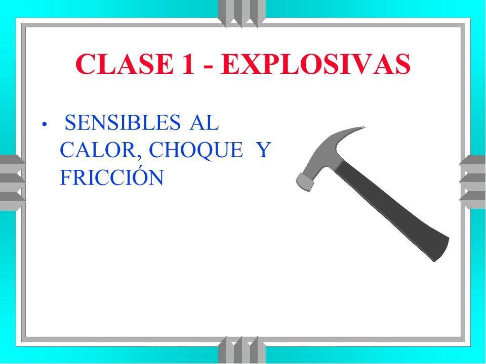 CLASE 1 - EXPLOSIVAS SENSIBLES AL CALOR, CHOQUE Y FRICCIÓN