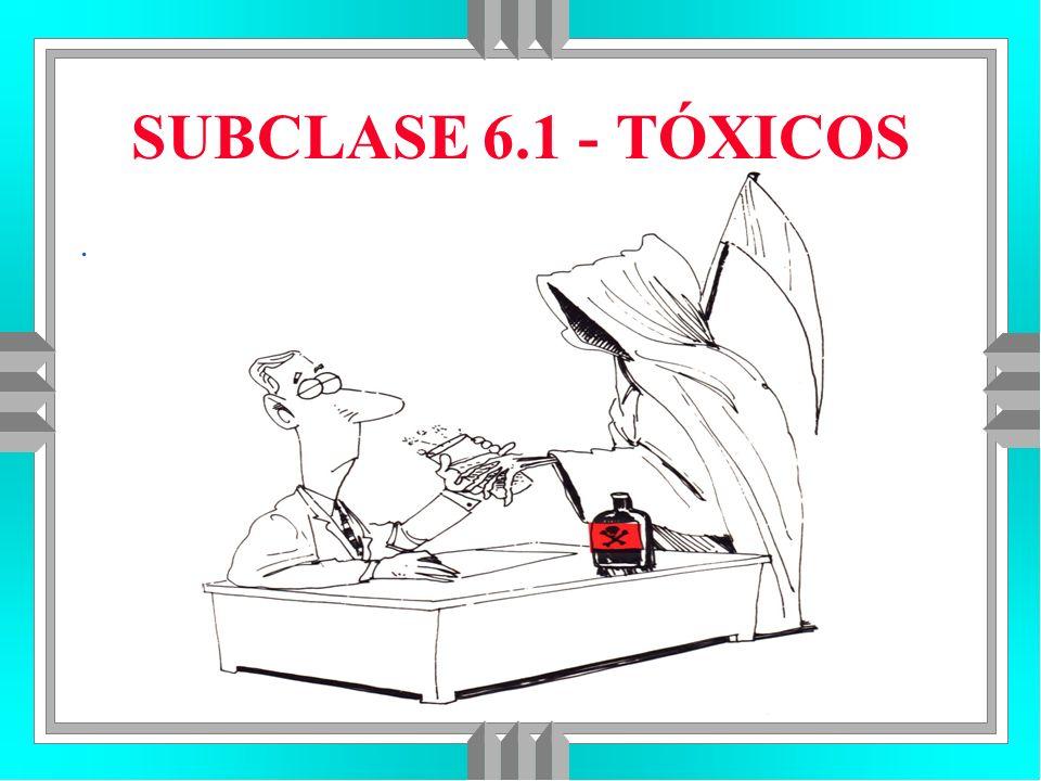 SUBCLASE 6.1 - TÓXICOS.