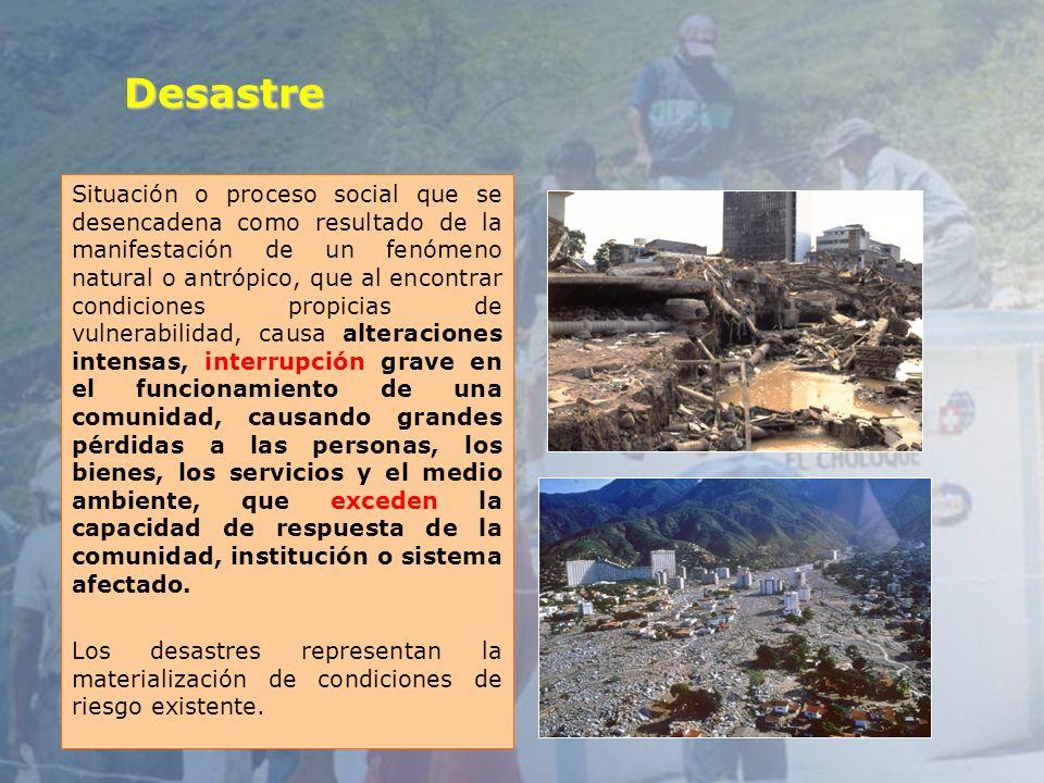 7 Tipos de desastres NATURALES Sismos, Terremotos Inundaciones Erupciones volcánicas Huracanes Deslizamientos TECNOLOGICOS Incendios Accidentes químicos Radiológicos Intencionales