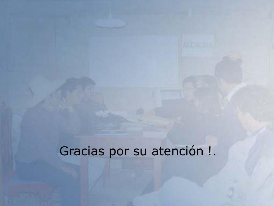 Gracias por su atención !.