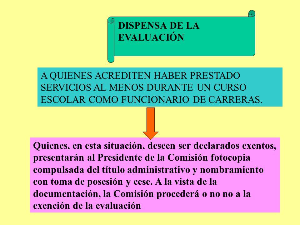 SUPERACIÓN DE LA FASE DE PRÁCTICAS LAS ACTAS DE CALIFICACIÓN FINAL SE ENVIARÁN A LA DIRECCIÓN GENERAL DE RECURSOS HUMANOS ANTES DEL 30 DE MAYO.