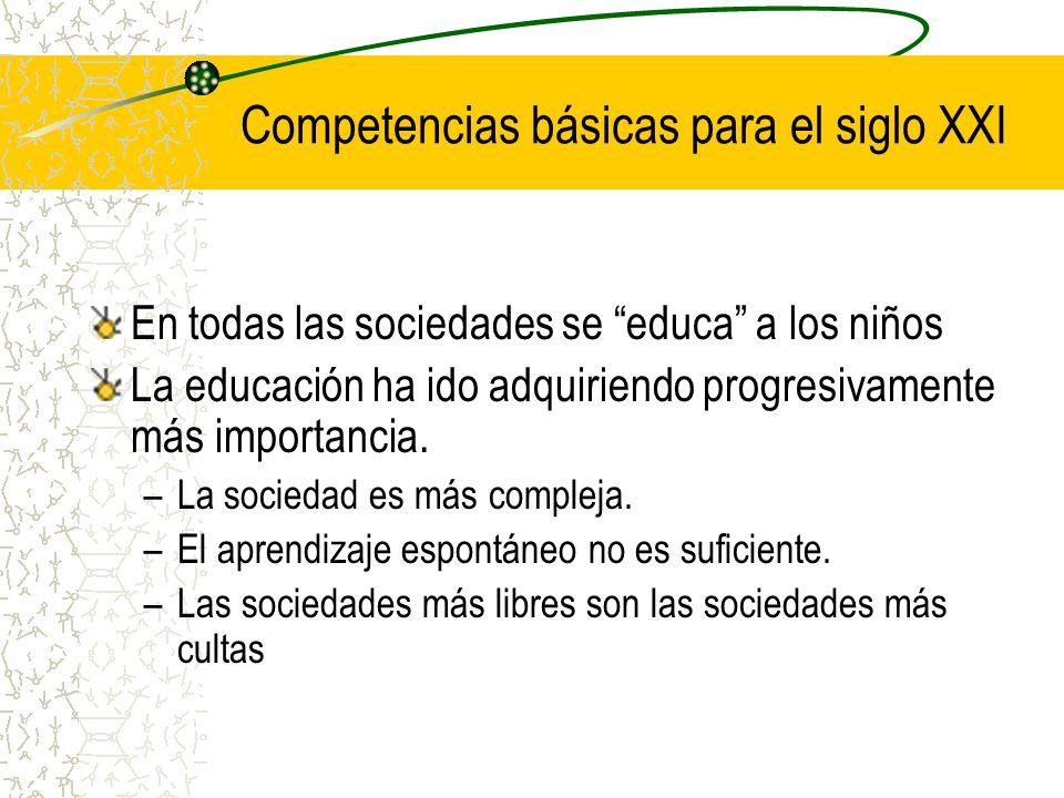 En todas las sociedades se educa a los niños La educación ha ido adquiriendo progresivamente más importancia. –La sociedad es más compleja. –El aprend