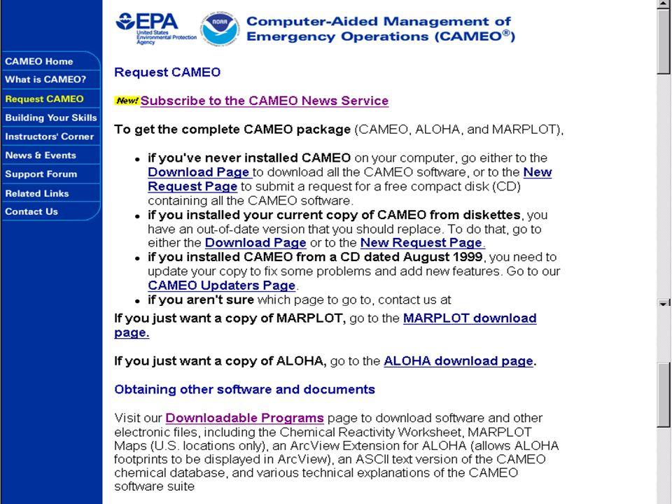 http://www.epa.gov/ceppo/cameo/index.htm