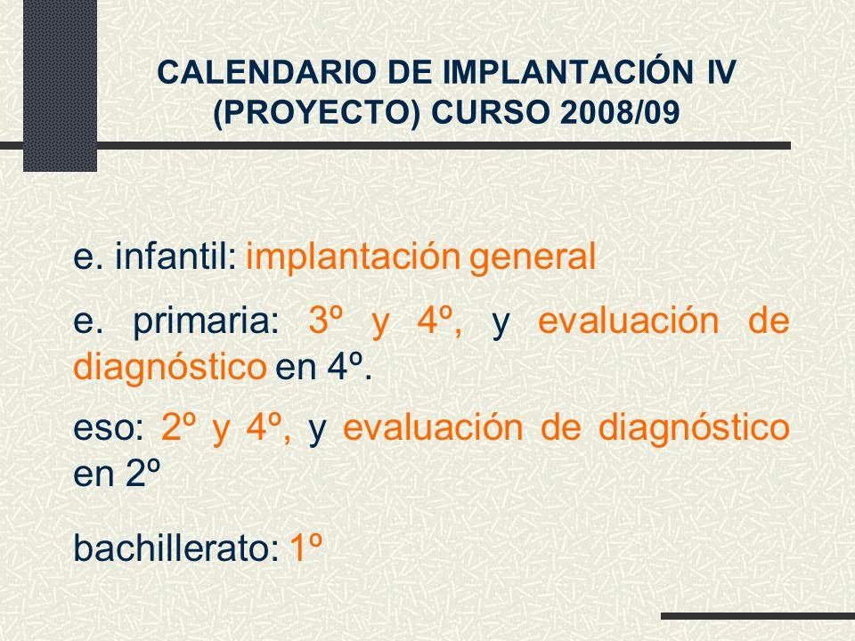 e. primaria: 3º y 4º, y evaluación de diagnóstico en 4º.