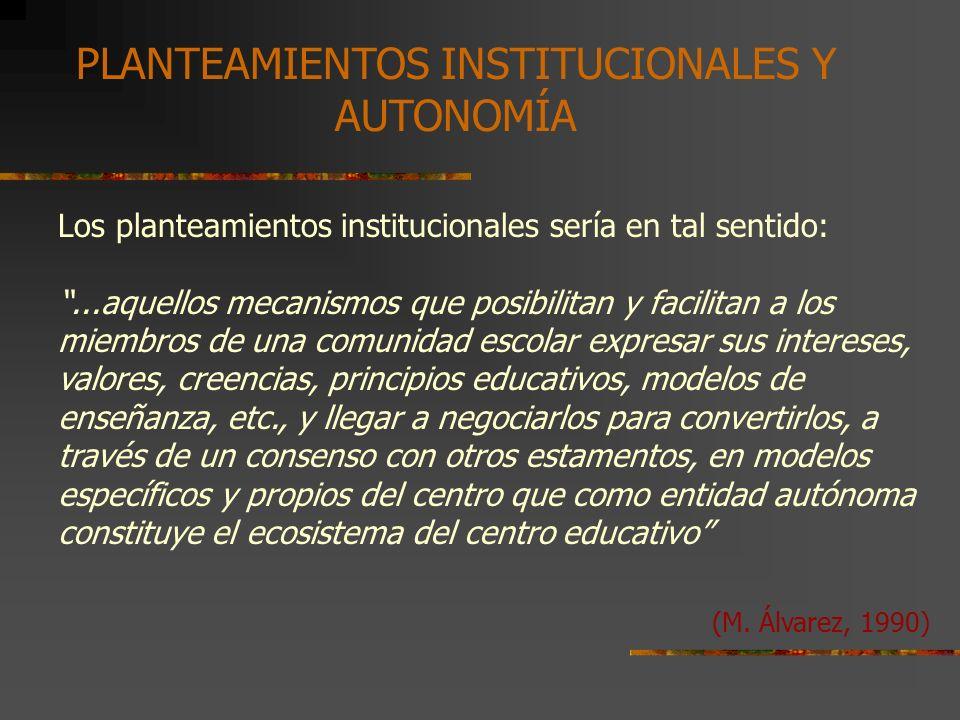 PROYECTO EDUCATIVO EN UN CENTRO ESCOLAR 1.2. CARACTERÍSTICAS Y COMPONENTES 1.2.2. LOE, 2006