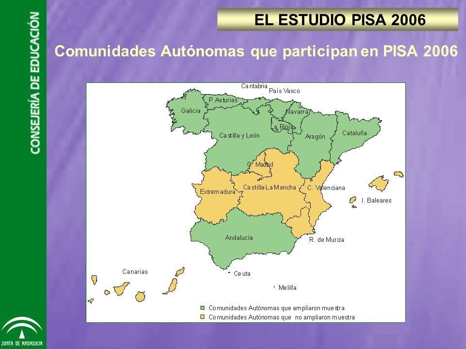 Comunidades Autónomas que participan en PISA 2006 EL ESTUDIO PISA 2006