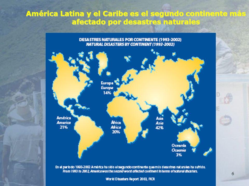 6 América Latina y el Caribe es el segundo continente más afectado por desastres naturales