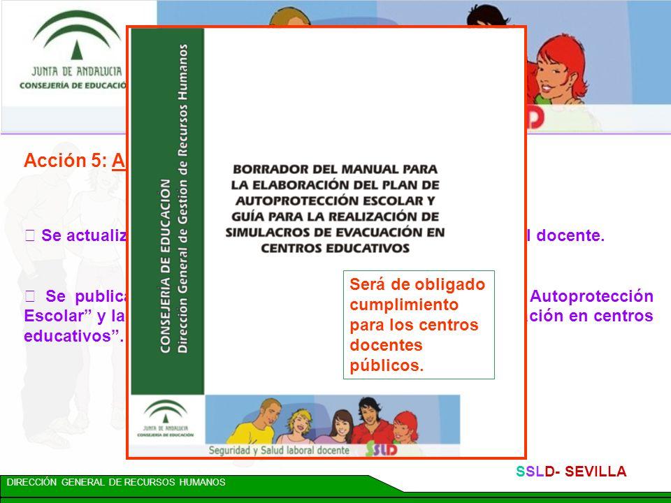 DIRECCIÓN GENERAL DE RECURSOS HUMANOS SSLD- SEVILLA Línea 900 de la Consejería de Empleo, con información en materia de prevención de riesgos laborale