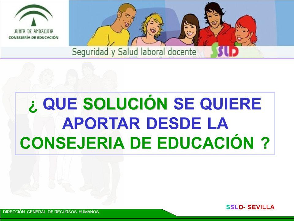 DIRECCIÓN GENERAL DE RECURSOS HUMANOS SSLD- SEVILLA Acción 17: VACUNACIONES Se promoverán acuerdos y convenios de colaboración con la Consejería de Salud para realizar campañas de prevención y de vacunación, dirigidas al personal docente y no docente de los centros públicos de Andalucía.