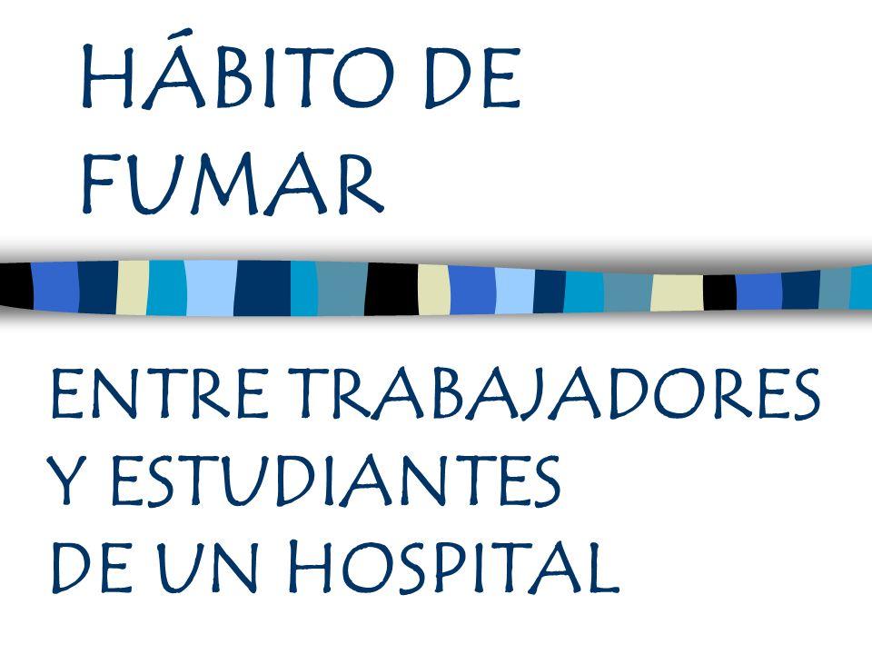 HÁBITO DE FUMAR ENTRE TRABAJADORES Y ESTUDIANTES DE UN HOSPITAL