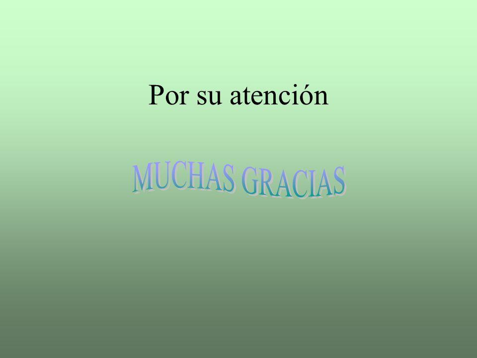 Por su atención