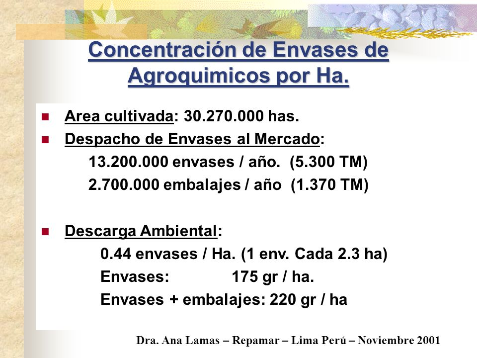 La capacidad del Ambiente para degradar naturalmente las sustancias depende de : Concentración de envases. Condiciones de la exposicion. Condiciones A