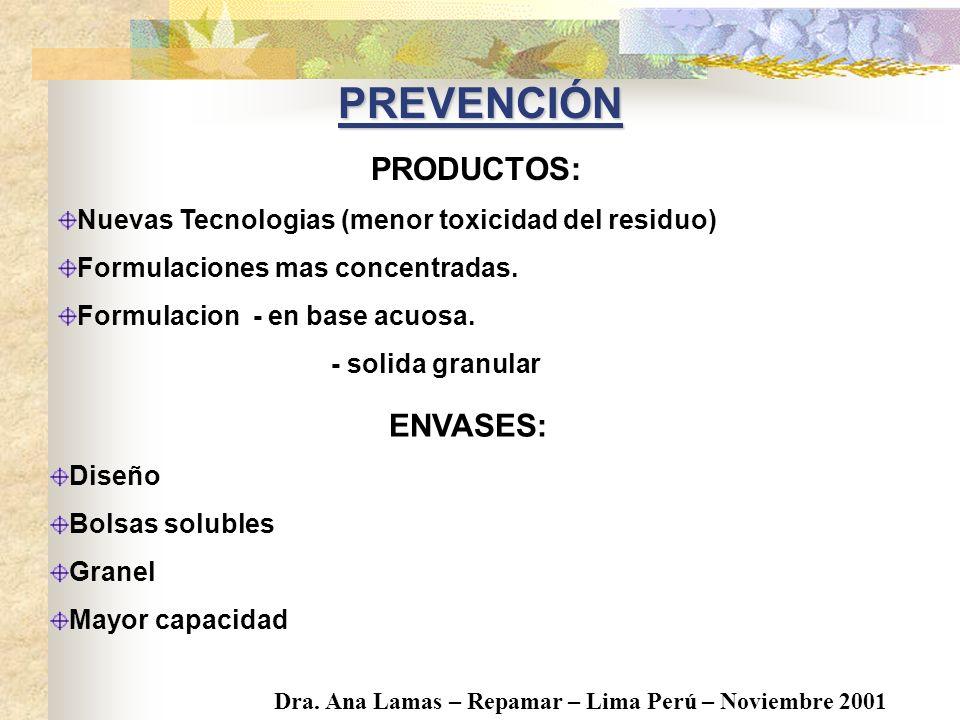Prevención Reutilización / Reciclado Recuperación de Energia. Disposición final. TripleLavado ESTRATEGIAS PARA EL MANEJO DE ENVASES
