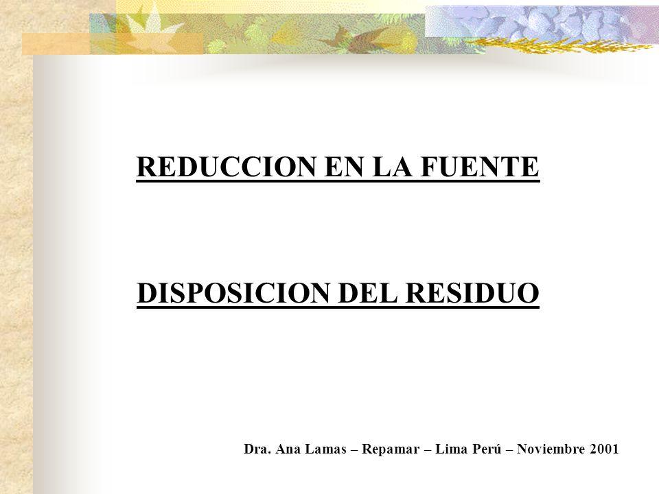 INVERSION DE LA INDUSTRIA PILAS PRIMARIAS OBJETIVO: Reducción del Mercurio CONCEPTO: Reducción en la fuente PILAS RECARGABLES RECOLECCION DISPOSICION