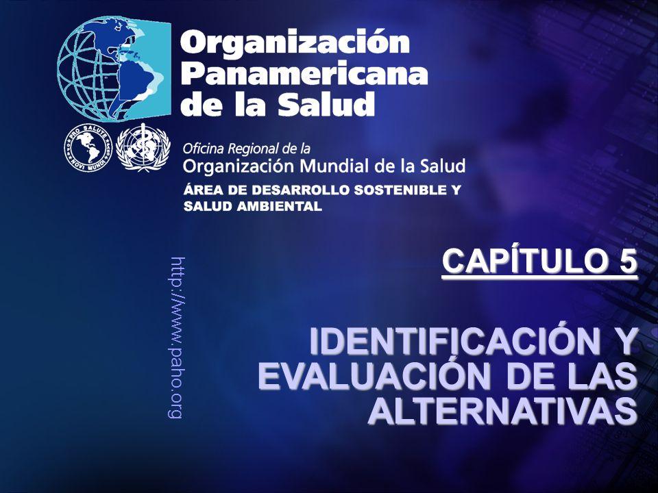 http://www.paho.org IDENTIFICACIÓN Y EVALUACIÓN DE LAS ALTERNATIVAS CAPÍTULO 5