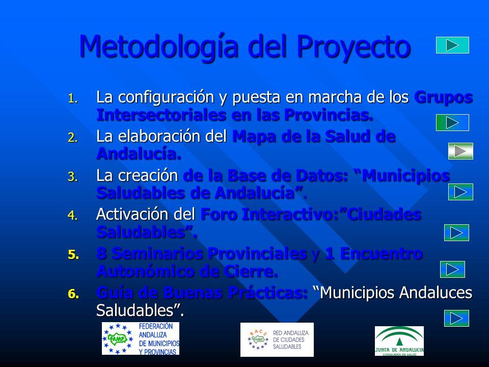 Metodología del Proyecto 1. La configuración y puesta en marcha de los Grupos Intersectoriales en las Provincias. 2. La elaboración del Mapa de la Sal