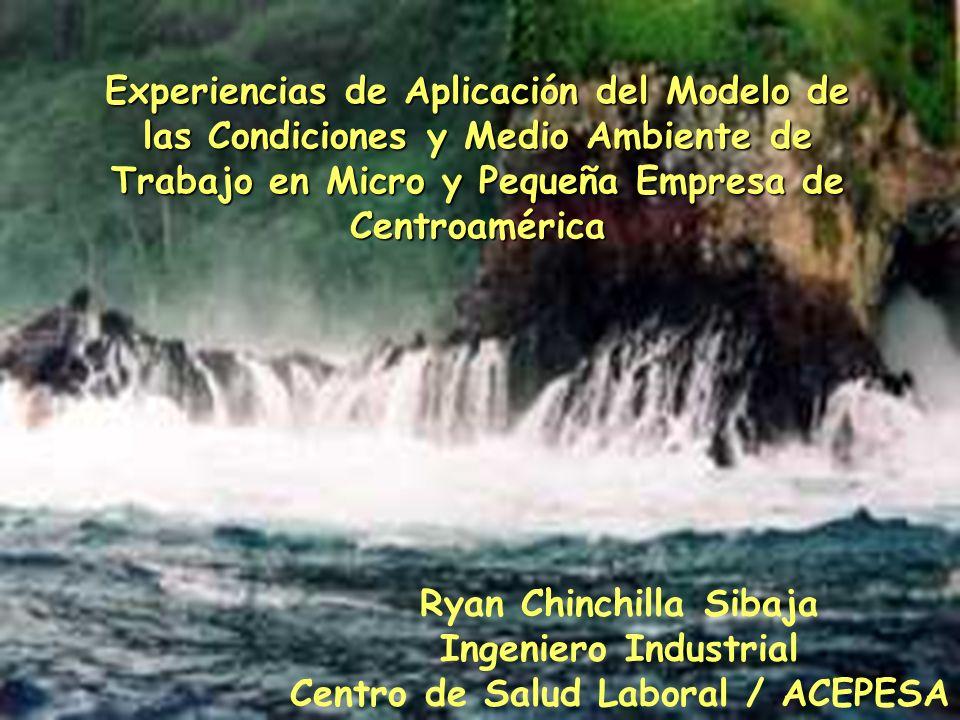 Ryan Chinchilla Sibaja Ingeniero Industrial Centro de Salud Laboral / ACEPESA Experiencias de Aplicación del Modelo de las Condiciones y Medio Ambient