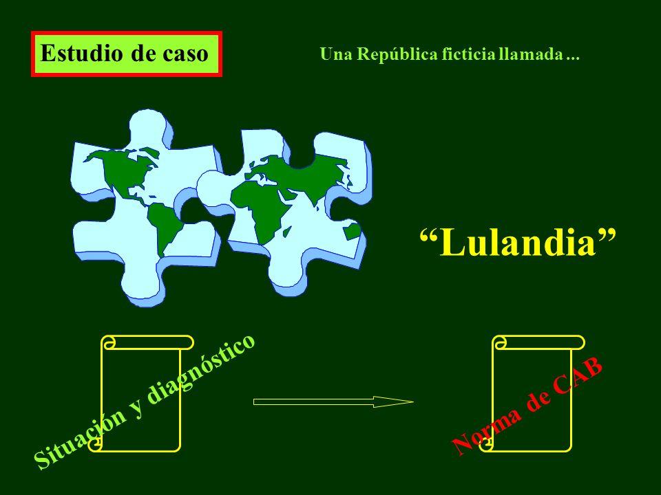 Estudio de caso Lulandia Una República ficticia llamada... Situación y diagnóstico Norma de CAB