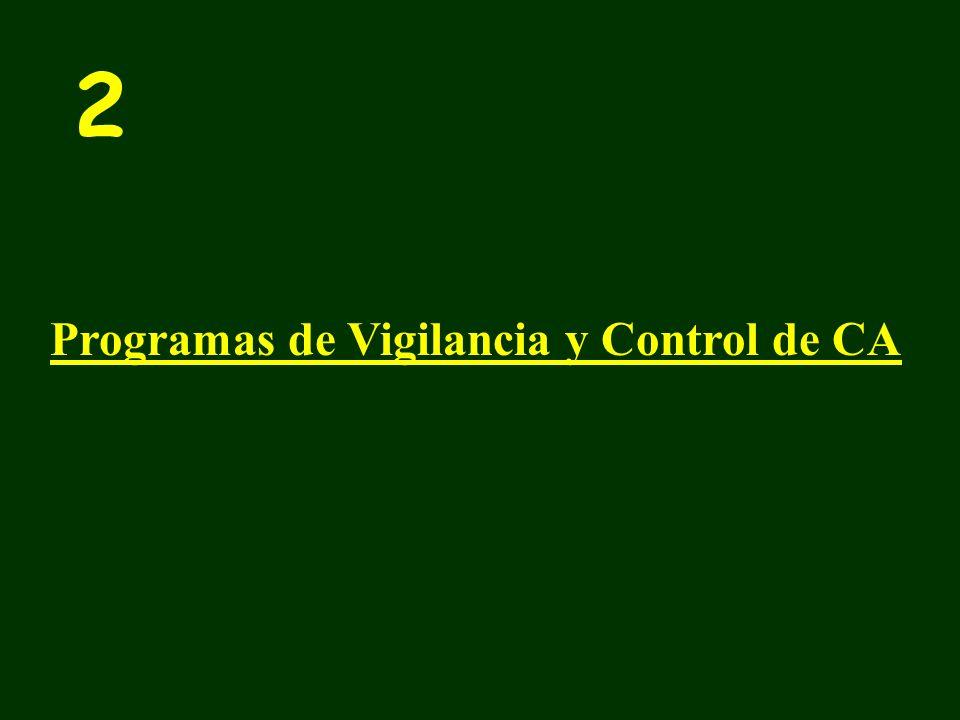 Programas de Vigilancia y Control de CA 2